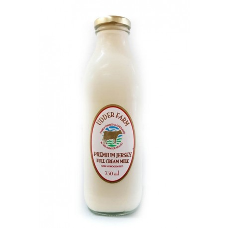 1 litre premium Jersey full cream milk (non-homogenised)