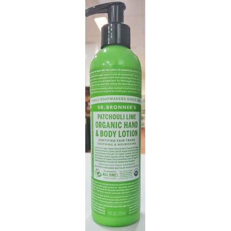 Organic hand & body lotion - patchouli lime