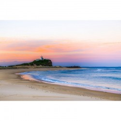 Pale Sunset at Nobbys - wall art by Stephen Carter