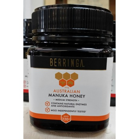 Honey Australian Manuka MGO 220+ (250gram Jar)