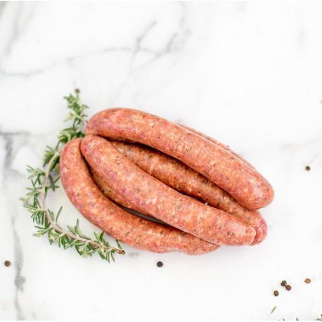Lamb, honey, mint & rosemary sausages