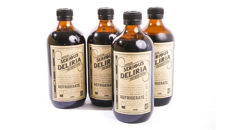 Serious Deliria cold brew coffee